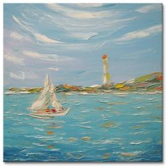 "Daily Paintworks - ""Old lighthouse"" by Elena Lunetskaya"