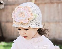 crochet hats for girls - Google Search