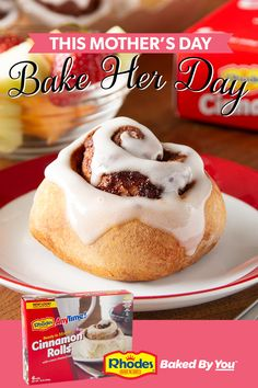 There's no better way to show the amazing women in your life how much you care, then to wake them up with the aroma of fresh baked cinnamon rolls. Cinnamon Roll Waffles, Cinnamon Roll Cookies, Brunch Ideas, Breakfast Ideas, Breakfast Recipes, No Bake Desserts, Delicious Desserts, Cinammon Rolls, Rhodes Bread