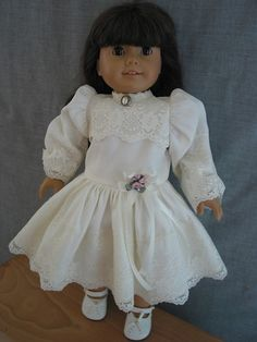 47 6 American Girl Doll Dreams Samantha Creamy White Dress Shoes | eBay