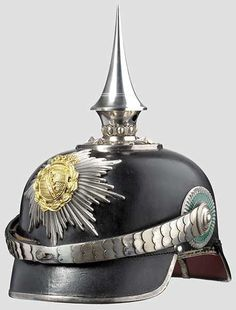 Crown Prince George, Duke of Saxony (1893 - 1943) an officer's helmet for the 1st Grenadier Life Guards Regiment no. 100 in Dresden Late, elegant version from ca. 1910.