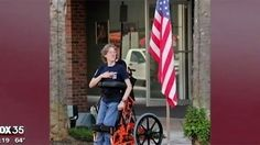 Veterans gift disabled teen featured in flag photo with standing wheelchair | Fox News