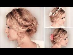 (3) Braided updo hairstyle for medium/long hair tutorial ❤ Wedding, prom - YouTube