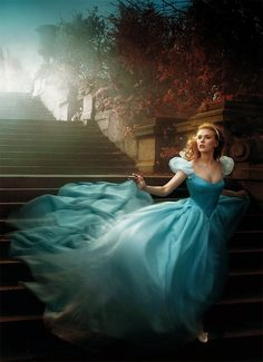 Cinderella photo shoot with Scarlett Johansson