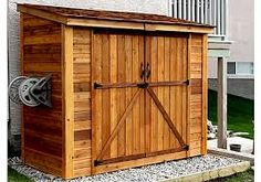 W x 4 ft. D Solid Wood Lean-To Tool Shed Outdoor Living Today SpaceSaver 8 Fuß B x 4 Fuß T Massivholz-Geräteschuppen Backyard Sheds, Outdoor Sheds, Garden Sheds, Backyard Storage Sheds, Cedar Garden, Wooden Storage Sheds, Garden Storage Shed, Garden Hose, Contemporary Sheds
