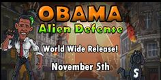 President Barack Obama is on a mission to save the Earth from evil alien invasion...
