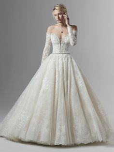 Off The Shoulder Lace Ball Gown Wedding Dress – Wedding Gown Klienfeld Wedding Dresses, Sottero And Midgley Wedding Dresses, Lace Wedding Dress, Designer Wedding Dresses, Bridal Gowns, Sottero Midgley, Blush Bridal, Lace Ball Gowns, Ball Dresses