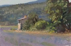 Cabanon in the lavender fields by Julian Merrow-Smith 7-6-17