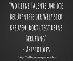 Was ist deine Berufung? http://selbst-management.biz/