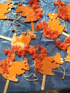 Squirels Craft Activities For Toddlers, Animal Crafts For Kids, Autumn Activities, Toddler Crafts, Fall Arts And Crafts, Easy Fall Crafts, Fall Crafts For Kids, Art For Kids, Fall Preschool