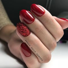 42 coffin – ballerina style nails page- 25 ~ mantulgan.me - Nails Christmas Gel Nails, Holiday Nails, Red Nail Designs, Acrylic Nail Designs, Cute Nails, Pretty Nails, Red Acrylic Nails, Red Shellac Nails, Red Nails With Glitter