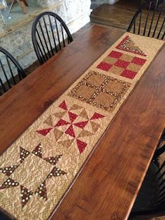 Nice design on this table runner.