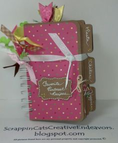Welcome to Scrappin' Cat's Creative Endeavors: File folder mini cookbook