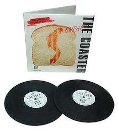 keladeco.com - dessous de #verre disque #vinyl blanc, sous verre apéritif, idée deco #apero musique, coaster - LA CHAISE LONGUE