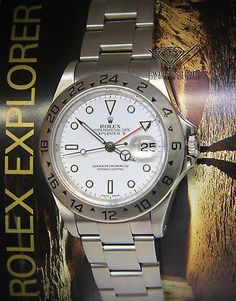 Rolex Explorer II Stainless Steel White Dial Mens 40mm Watch Box/Papers 16570