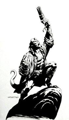 Hellboy by Bernie Wrightson *