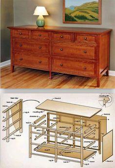 Heirloom Dresser Plans - Furniture Plans and Projects   WoodArchivist.com