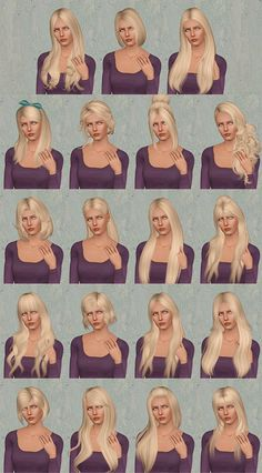 My Sims 3 Blog: Hair Retextures by Pretty Lady Babies