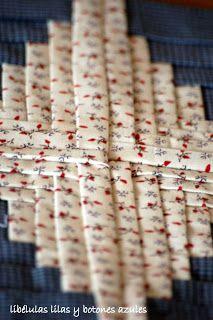 almazuelas y más almazuelas.2 Log Cabin Quilt Pattern, Log Cabin Quilts, Quilt Patterns, Crafts, Decor, Scrappy Quilts, Dressmaking, Blue Prints, Manualidades