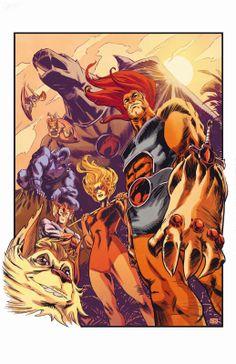 Thundercats by cory smith Thundercats Costume, Thundercats Cartoon, He Man Thundercats, Thundercats 2011, Thundercats Characters, 80s Characters, Retro Cartoons, Classic Cartoons, Comic Books Art