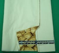 microwave potato bag...use placemats instead of fabric, lining and batting