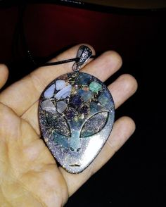 Alien Orgone Pendant with Amethyst,Amazonite,Chrysocolla,Blue Lace agate,Aventurine, EMF Protection, Reiki Infused, Grounding,ET connection
