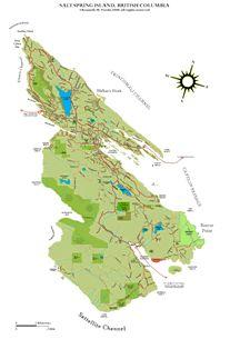 Map of Salt Spring Island - Map of Saltspring Island, British Columbia Island Map, Spring Design, Interactive Map, British Columbia, Salt, Pictures, Canada, Link, Travel