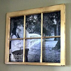 Rusted Treasure: DIY Picture Window Frames....now I know where to get a large pic made