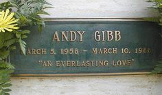 Andy Gibb, Forest Lawn Memorial Park, Los Angeles, CA