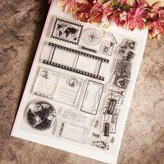 Journey Postcard silicone clear stamp scrapbooking seal handmade DIY card notebook photo album roller decoration