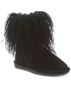 Bearpaw Boo Youth Boots, Little Girls (2-6X) & Big Girls (7-16) - Black 13