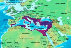Map of the Eastern Roman Empire, 565AD