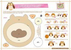 Coruja Naninha (PAP com molde) | Faça o download, imprima, r… | Flickr