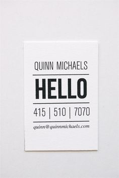 Quinn Letterpress Calling Cards Set of 50 van inhauspress op Etsy