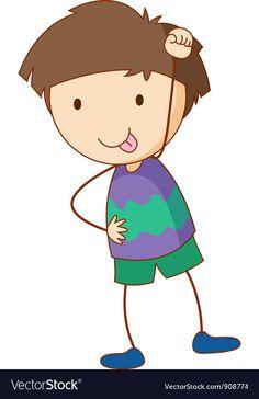 Simple child cartoon vector image on VectorStock