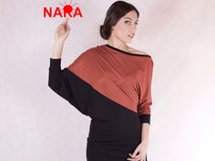 Longsleeves - NARA Casual Long Shirt Fledermaus Ärmel - ein Designerstück von Berlinerfashion bei DaWanda