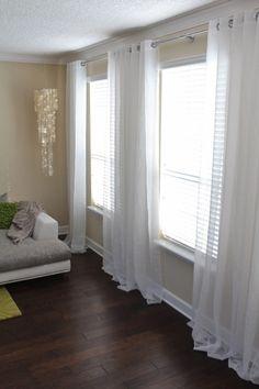 DIY galvanized pipe curtain rod