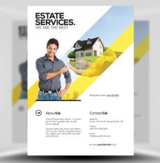 Real Estate Flyer Template 3 1 Design Templates Business