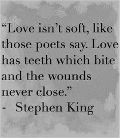 love can also tend to those bite marks, maybe by the same person that made the mark or a previous bite mark. Choose wisely who you want to tend to your wounds....