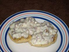 Sausage Gravy & Biscuits -