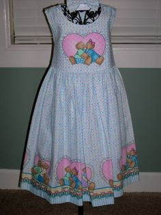 Girl's Bears and Hearts Dress with Matching by kutekidskreations, $25.00