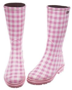 Pink Gingham boots.