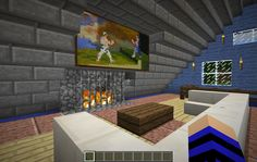 108.170.54.82:38003 : LizC864 Minecraft: BRAND NEW 1.8 WORLD!: My 2nd build: My personal home: 2nd floor living room.