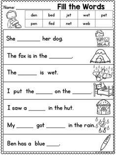 Kindergarten Summer Review   Apprendre l'anglais, Lecture ...