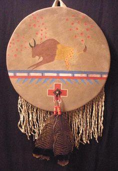 Buffalo Shield wall art by Cha' Tullis visit www.chatullis.com