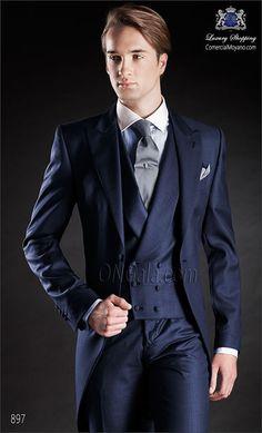 Traje de novio Chaqué azul 897 ONGala Morning suit