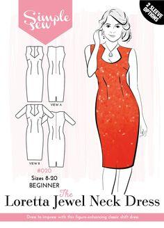 The Loretta Jewel Neck Dress