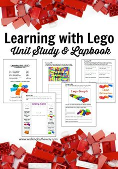 FREE Learning with LEGO Unit Study and Lapbook from Walking by the Way *I mean, really? Does it get any better than this? A Lego Unit Study/Lapbook Lego Math, Lego Kindergarten, Lego Minecraft, Preschool Math, Lego Duplo, Lego Therapy, Lego Challenge, Lego Activities, Corona