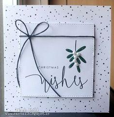 Cártaí: Christmas Wishes & Mistletoe Kisses Handmade Christmas Crafts, Christmas Card Crafts, Homemade Christmas Cards, Christmas Cards To Make, Christmas Wishes, Xmas Cards, Handmade Birthday Cards, Greeting Cards Handmade, Birthday Card Drawing