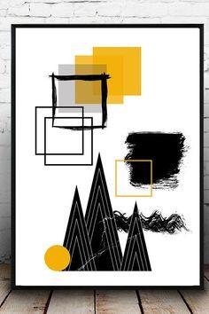 b62387c69e Stampa poster astratto. Poster geometrico. Arte moderna. Arte astratta. Stampa  tipografica.